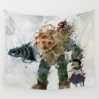 bubbles Wall Tapestries featuring Bubbles by Melissa Smith