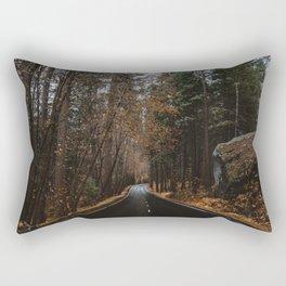 AUTUMN FOREST ROAD Rectangular Pillow