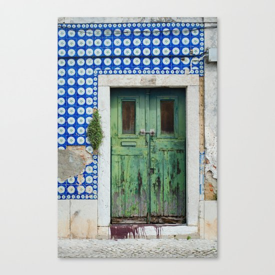 DOOR, LISBON, PORTUGAL Canvas Print
