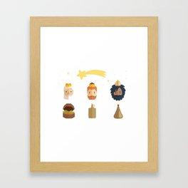 Three Wise Men Epiphany Day Framed Art Print