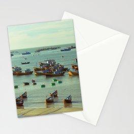fishing village Stationery Cards