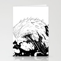 moby dick Stationery Cards featuring Moby Dick by JoJo Seames