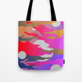 Camouflage and Circles I Tote Bag