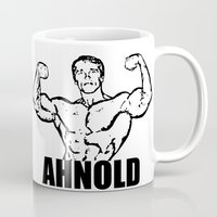 arnold Mugs featuring Arnold Schwarzenegger  |  AHNOLD by Silvio Ledbetter