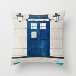 Doctor Who & Sherlock Throw Pillow