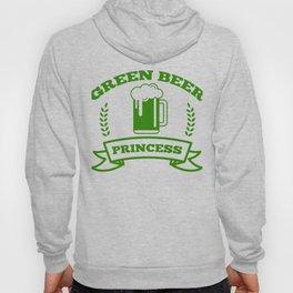 Green Beer Princess St Patricks Day Irish Drinking Hoody