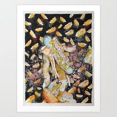 Hot Dog Thizzle Dance Art Print