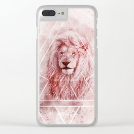 Sacred Majestic Red Lion Spirit Animal Clear iPhone Case