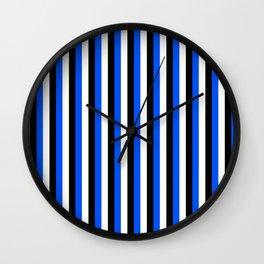 Team Colors 4... blue, black Wall Clock
