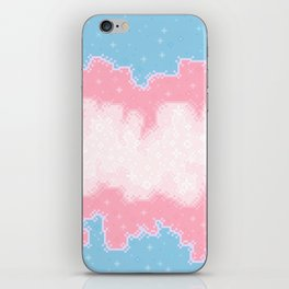 Trans Pride Flag Galaxy iPhone Skin