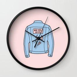 BAD ASS B Wall Clock