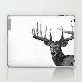 The Majestic Trophy Buck - Deer Graphite Pencil Drawing - by Julio Lucas Laptop & iPad Skin
