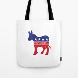 Wisconsin Democrat Donkey Tote Bag
