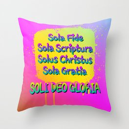 Five Solas Throw Pillow