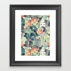 tropical mix Framed Art Print