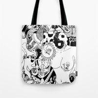 random Tote Bags featuring Random by bayes bros
