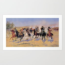 A Dash for the Timber Frederic Remington Kunstdrucke