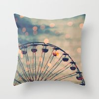 ferris wheel Throw Pillows featuring Ferris Wheel by Juste Pixx Photography