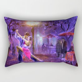 Night tango painting print Rectangular Pillow