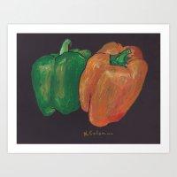 Peppers! Art Print
