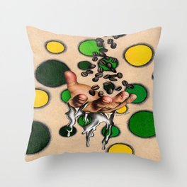 dissolved caffeine  Throw Pillow