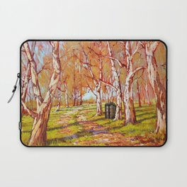 Tardis Art At The Tree Forest Laptop Sleeve
