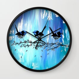 Blue and Green Wall Clock