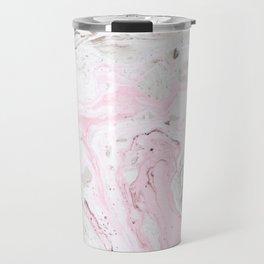 Pink and gray marble Travel Mug