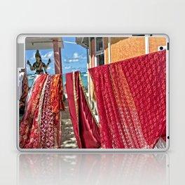 Wash day at Hindu temple, Mauritius Laptop & iPad Skin