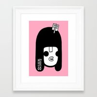 ramones Framed Art Prints featuring Hey Ho Let's Go by Philip Morgan