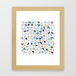 Colorful Baby Leopard Pattern. Seamless Colorful Kids Wallpaper Pattern Framed Art Print