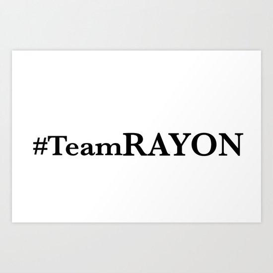 #TeamRAYON Rug Art Print