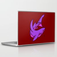 shark Laptop & iPad Skins featuring Shark by Artistic Dyslexia