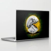 pacman Laptop & iPad Skins featuring Skull Pacman by Diego Tirigall
