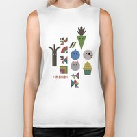 vegetable Biker Tanks featuring Vegetable Colours by Mr Onion