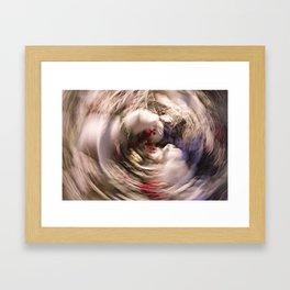 Abstract Polar Bear Family Framed Art Print