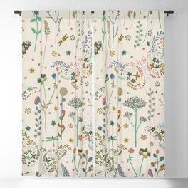 Abstract Botanical Artwork Blackout Curtain
