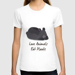 Love Animals, Eat Plants Bear Watercolour T-shirt