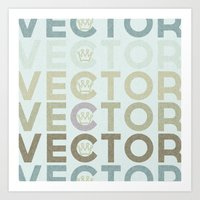 vector Art Prints featuring Vector by Designs By Drew