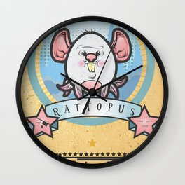 Rattopus Show Wall Clock