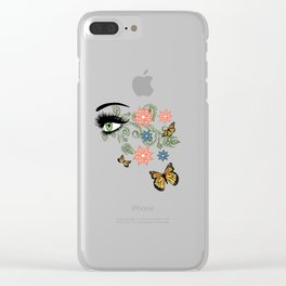 Summer eyes Clear iPhone Case