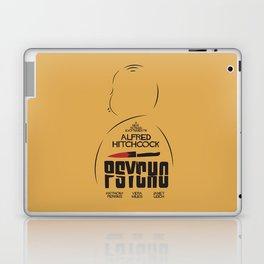 Psycho, Alfred Hitchcock, minimal movie poster, classic horror film, american cinema, thriller Laptop & iPad Skin