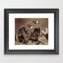 Collapsed Family Framed Art Print