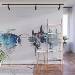 Glasgow City Skyline Wall Mural
