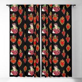 Sacred Hearts and Frida Blackout Curtain