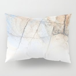 Cotton Latte Marble - Ombre blue and ivory Pillow Sham