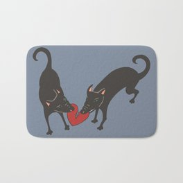 Black Dog Heartbreak Bath Mat