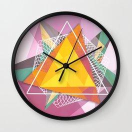 Tangled triangles Wall Clock