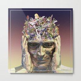 Music Head Metal Print