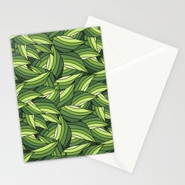 GREENERY LEAVES B  (abstract flowers nature) Stationery Cards